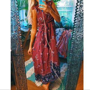 band of gypsies// longline ruffle maxi long dress